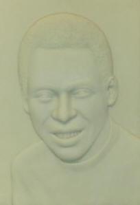 Relevo do rosto do jogador Pelé