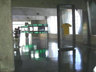 Sala Pelé e Garrincha
